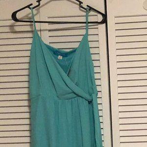 spaghetti strap wrap dress
